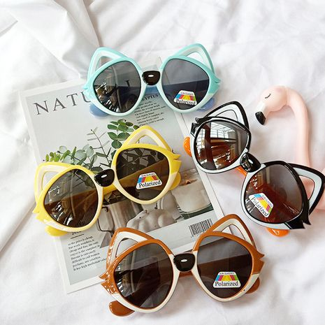 Cartoon sunglasses cute baby fox eye protection polarized sun glasses NHBA256730's discount tags