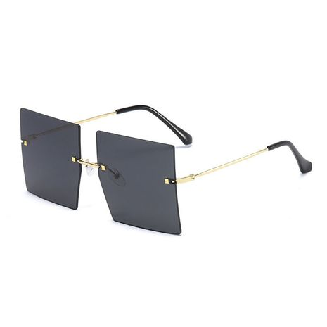 big box frameless cut-edge star trend men and women cover face plain sunglasses  NHBA256765's discount tags
