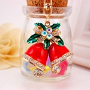 craft small gift Christmas dripping oil red bell bag accessories metal pendant key chain NHAK256811