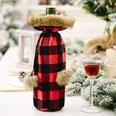 NHHB1115769-Pompom-lattice-wine-bottle-sleeve-red-and-black