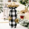 NHHB1115770-Pompom-lattice-wine-bottle-cover-black-and-white