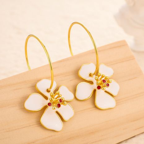 Fashion alloy multicolor temperament flower circle earrings  NHGY255906's discount tags