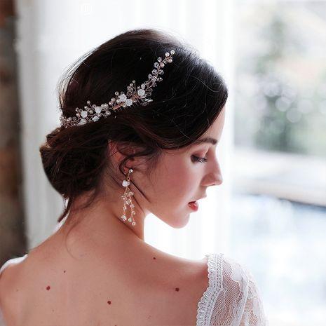 Boucles d'oreilles en perles à la main en poterie douce paire de fleurs peigne chapeaux de mariage NHHS256512's discount tags