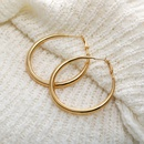 Hot selling golden big circle earrings creative exaggerated personality metal earrings wholesale NHYI256899