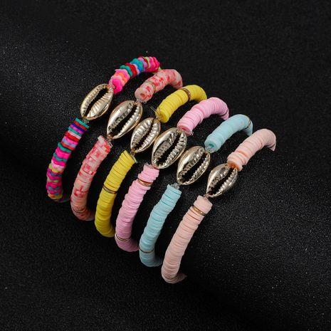 nouvelle mode bohème style ethnique shell tout-match couleur bracelet en argile souple NHLL256904's discount tags