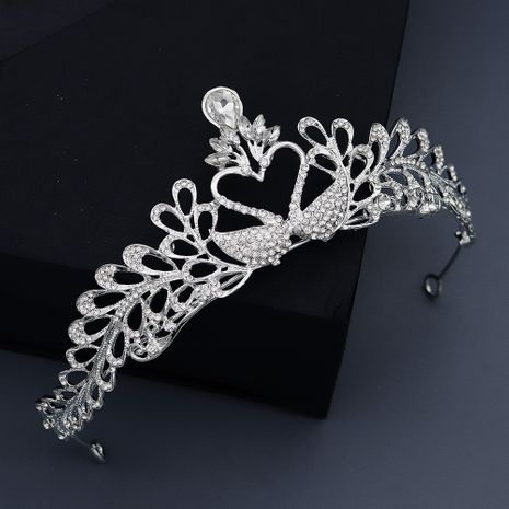 Bride wedding headdress rhinestone swan crown baroque crown party jewelry wholesale  NHHS256910's discount tags