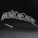 Nuevo tocado de boda de diamantes de imitacin de aleacin hueca corona nupcial barroca al por mayor NHHS256911