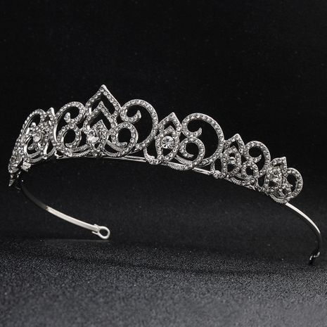 New Baroque bridal crown hollow alloy rhinestone wedding headdress wholesale  NHHS256911's discount tags