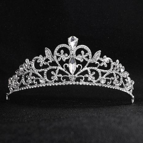 Style baroque vintage couronne de mariée ronde en alliage de diamants coiffe de mariage de mariée en gros NHHS256912's discount tags