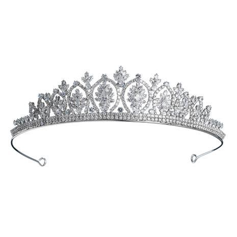 Mode nouvelle couronne diamant bandeau zircon couronne mariée coiffure bijoux de mariage NHHS256916's discount tags