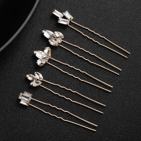 fashion simple diamond  hairpin set  wholesale NHHS256917's discount tags