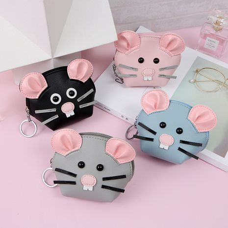 Korean hot-selling creative mouse wallet cartoon storage coin purse wholesale NHAE256940's discount tags