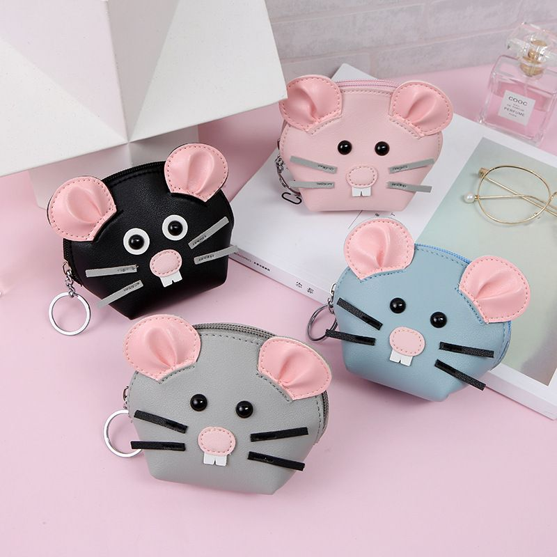Korean hot-selling creative mouse wallet cartoon storage coin purse wholesale NHAE256940