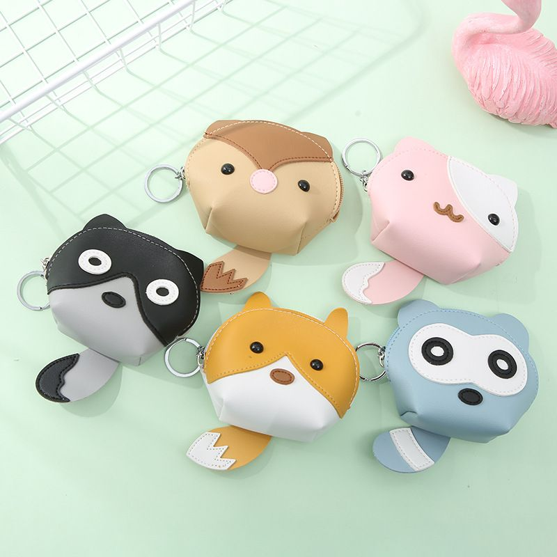 lindo animal de dibujos animados monedero monedero coreano multifuncional NHAE256942