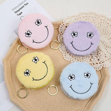 Smiley face sac de rangement en peluche mignon zipper porte-monnaie dames mini sac de monnaie en gros NHAE256946's discount tags