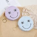 smiley face storage bag plush cute zipper coin purse ladies mini coin bag wholesale NHAE256946