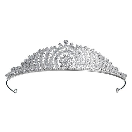 new baroque round alloy crown  high-end zircon crown bridal headband  NHHS256954's discount tags