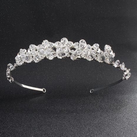 Nouveau bandeau de mariée de mode bandeau en cristal de couronne haut de gamme NHHS256955's discount tags