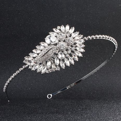 creative wedding alloy rhinestone simple headband  NHHS256957's discount tags