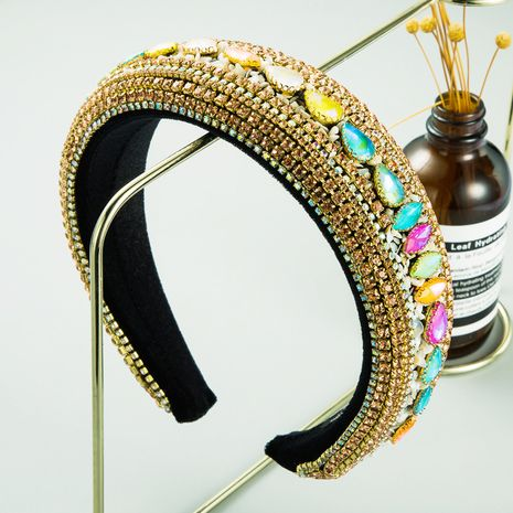 fashion  creative luxury full diamond bangs headband NHLN256975's discount tags