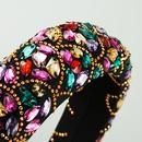 Mode nouvelle bande de cheveux de dfil rtro de luxe strass color NHLN256974