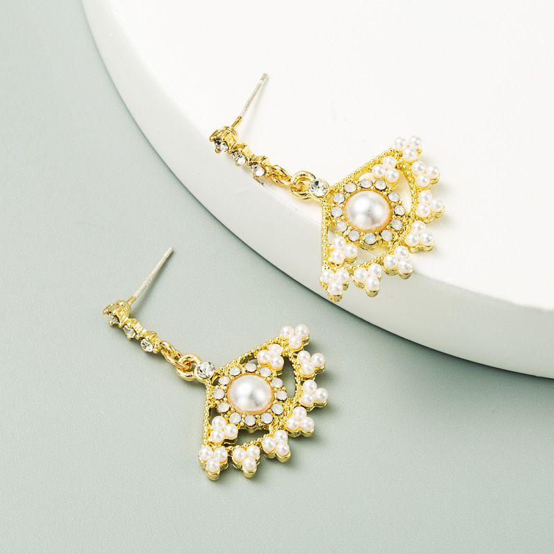 Korea  Light Luxury S925 Silver Needle Diamond Earrings NHLN256981