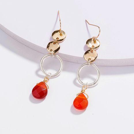 hot-selling  tassel metal  sand silver drop natural stone earrings NHAN257028's discount tags