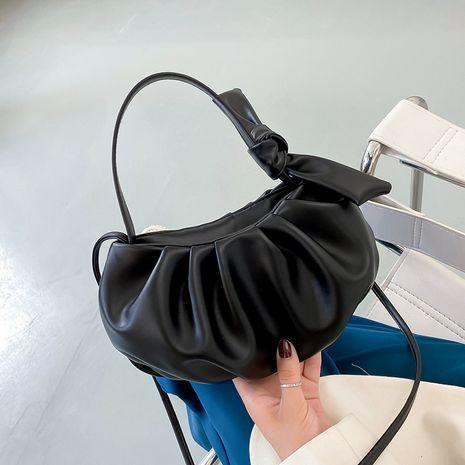 Sac sous les aisselles de nuages froissés minimaliste Nouveau petit sac à une épaule à la mode de surface douce décontractée NHJZ257055's discount tags