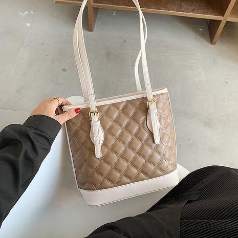 nouveau sac de grande capacité à bandoulière unique tendance rhombique NHJZ257066's discount tags