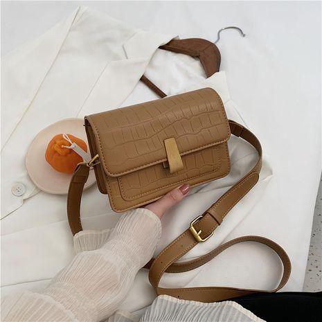 Modèle de pierre de tendance de mode nouveau petit sac à texture décontractée à une épaule diagonale all-match NHJZ257069's discount tags