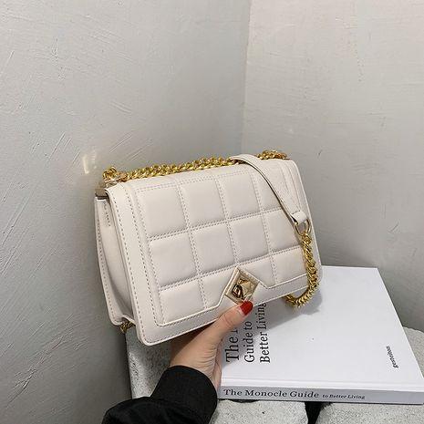 nouveau petit sac carré en cuir à la mode avec chaîne losange NHJZ257076's discount tags