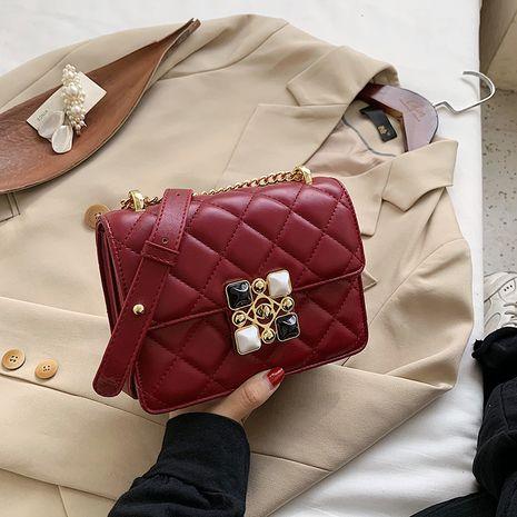 nouveau sac à chaîne en losange à une épaule à une épaule populaire NHJZ257077's discount tags