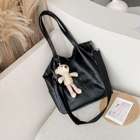 fourre-tout sac de grande capacité nouveau sac diagonal coréen en cuir souple tendance NHJZ257085's discount tags