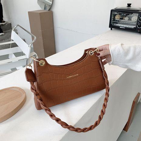 nouveau sac baguette de texture sauvage de mode coréenne NHJZ257088's discount tags