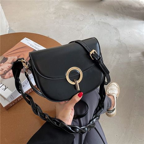 bandoulière demi-cercle épaule rétro piggy bag simple casual sauvage simple tissé sac à main NHJZ257101's discount tags