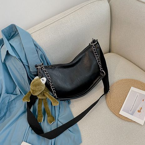 mode nouveau sac de selle demi-cercle chaîne simple NHJZ257111's discount tags