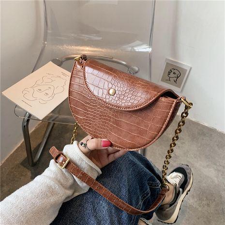nouveau petit sac à bandoulière de couleur unie mode demi-cercle NHJZ257113's discount tags