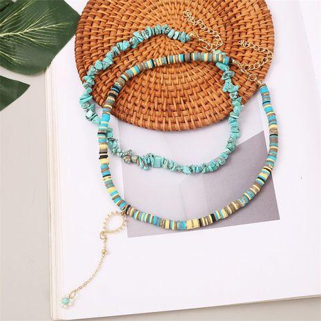 Bohème fait à la main doux en céramique gravier multicouche créatif long collier de fleurs de perles de riz en gros NHLA257216's discount tags