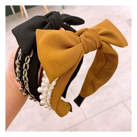 new retro  pearl handmade tassel  bow knot headband NHHD257221's discount tags