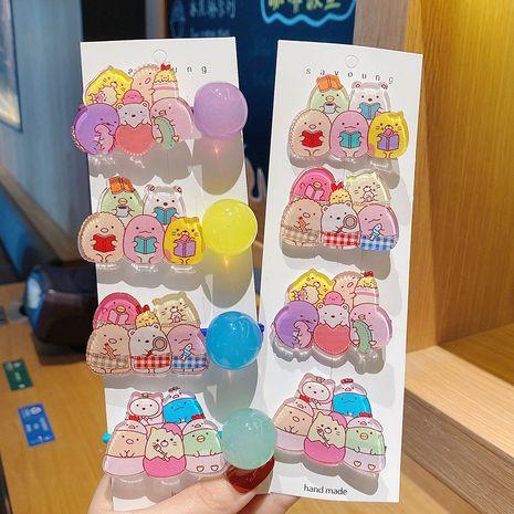 Korea new  cartoon bear cute hair rope hairpin  NHCQ257238's discount tags