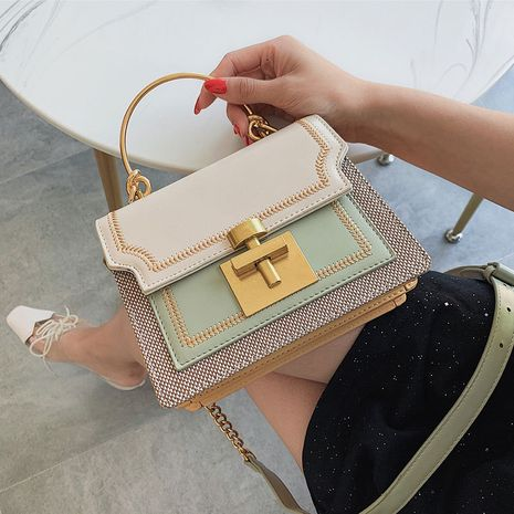 nouveau sac carré portable coréen mode texture chaîne messenger sac à bandoulière en gros NHLH257252's discount tags