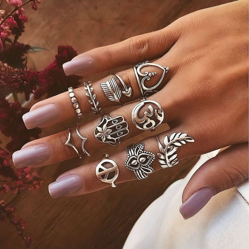 Hot selling personality exaggerated  retro ethnic love arrow rings  NHBQ257509