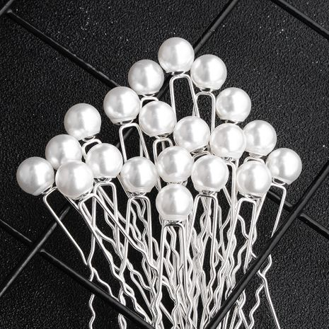 new bridal headgear daily simple pearl U-shaped hairpin set  NHHS257281's discount tags