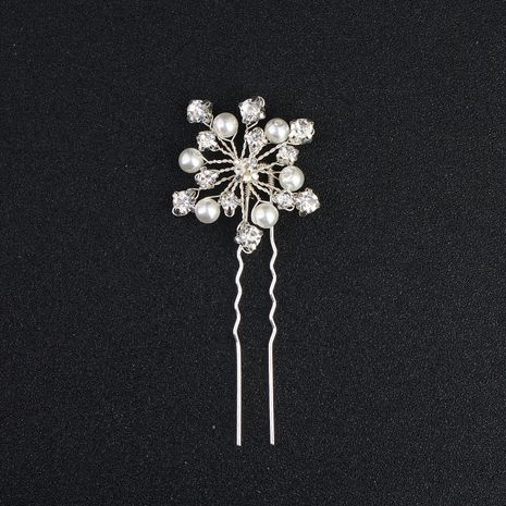 New bridal headwear U-shaped stitch  fashion pearl handmade hairpin NHHS257283's discount tags