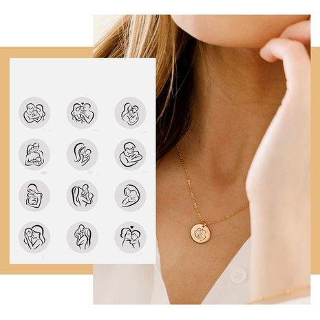 Nuevo collar de letras de cadena de clavícula colgante creativo al por mayor NHTF256962's discount tags