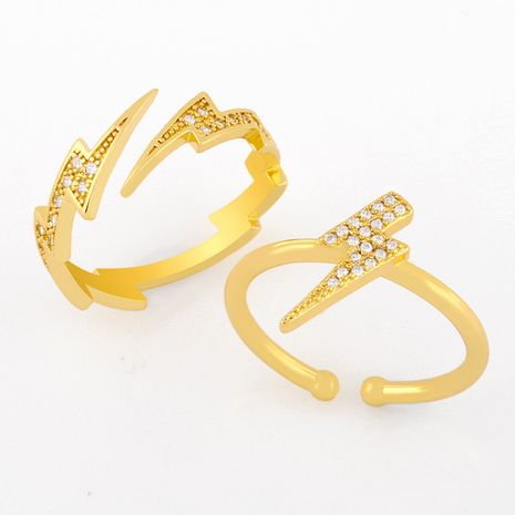 lightning opening ring creative zircon ring hand jewelry wholesale  NHAS257304's discount tags