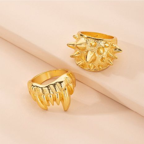 Hot selling fashion hollow rivet exaggerated personality ring wholesale NHAI257341's discount tags