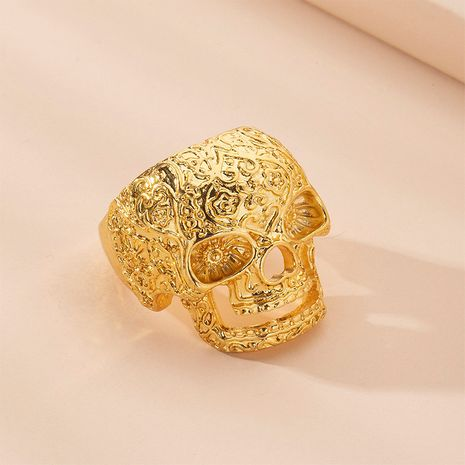 Hot selling fashion Halloween exaggerated skull ring creative personality ring wholesale NHAI257351's discount tags