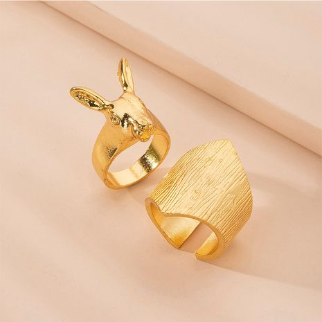 Hot selling fashion rabbit personality women's rings wholesale NHAI257377's discount tags
