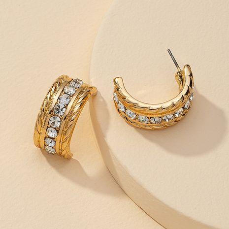 Venta caliente de los pendientes del diamante del metal de la moda al por mayor NHGU257393's discount tags
